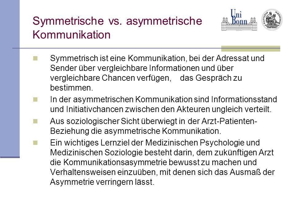 Symmetrische vs. asymmetrische Kommunikation
