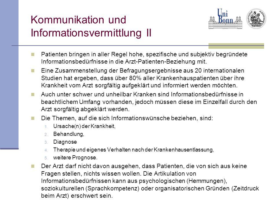Kommunikation und Informationsvermittlung II