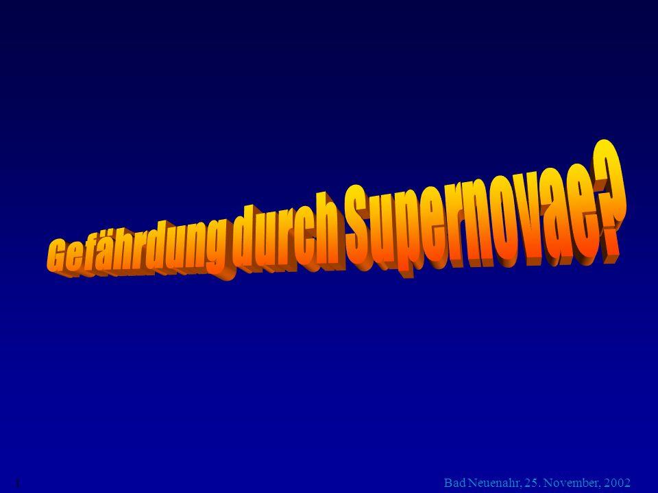 Gefährdung durch Supernovae