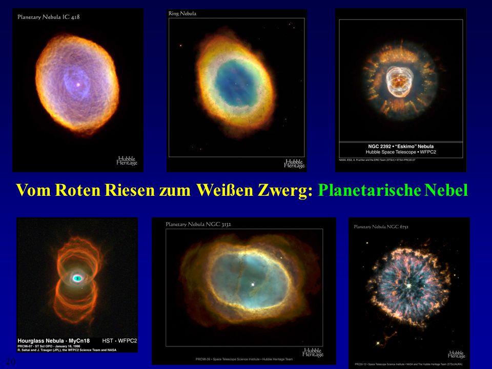 Vom Roten Riesen zum Weißen Zwerg: Planetarische Nebel
