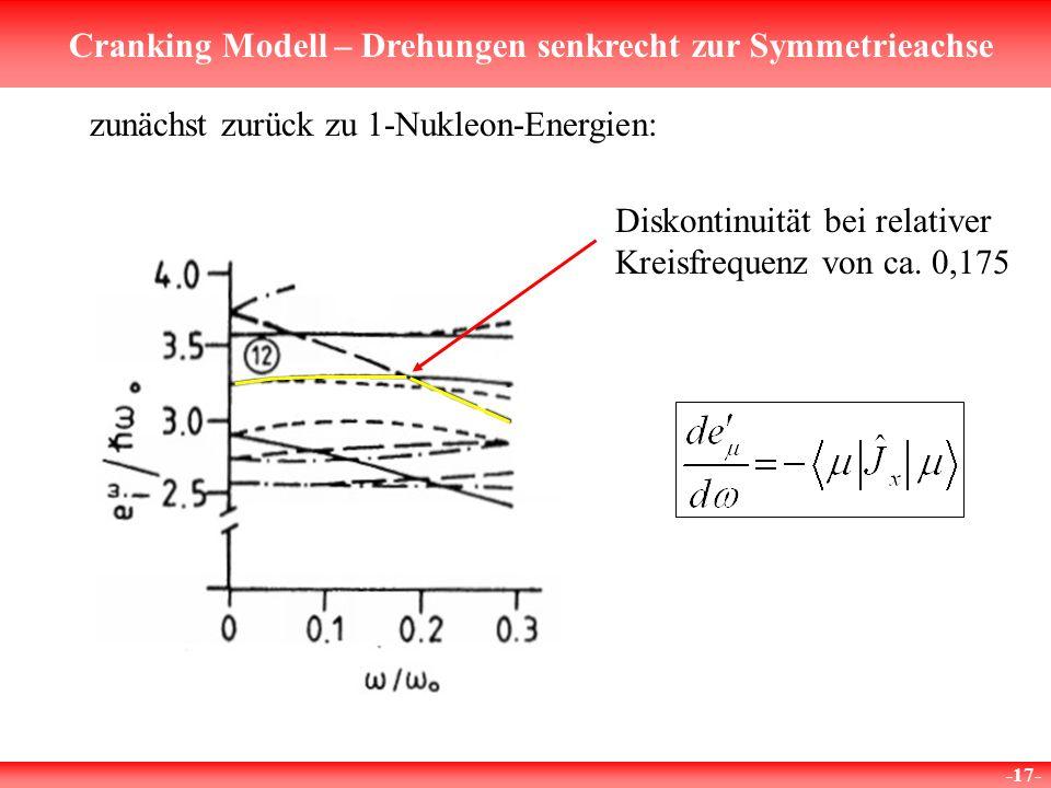 zunächst zurück zu 1-Nukleon-Energien: