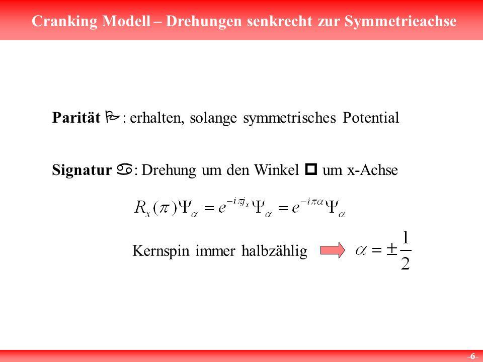 Parität P: erhalten, solange symmetrisches Potential