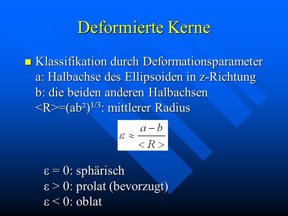 Deformierte Kerne
