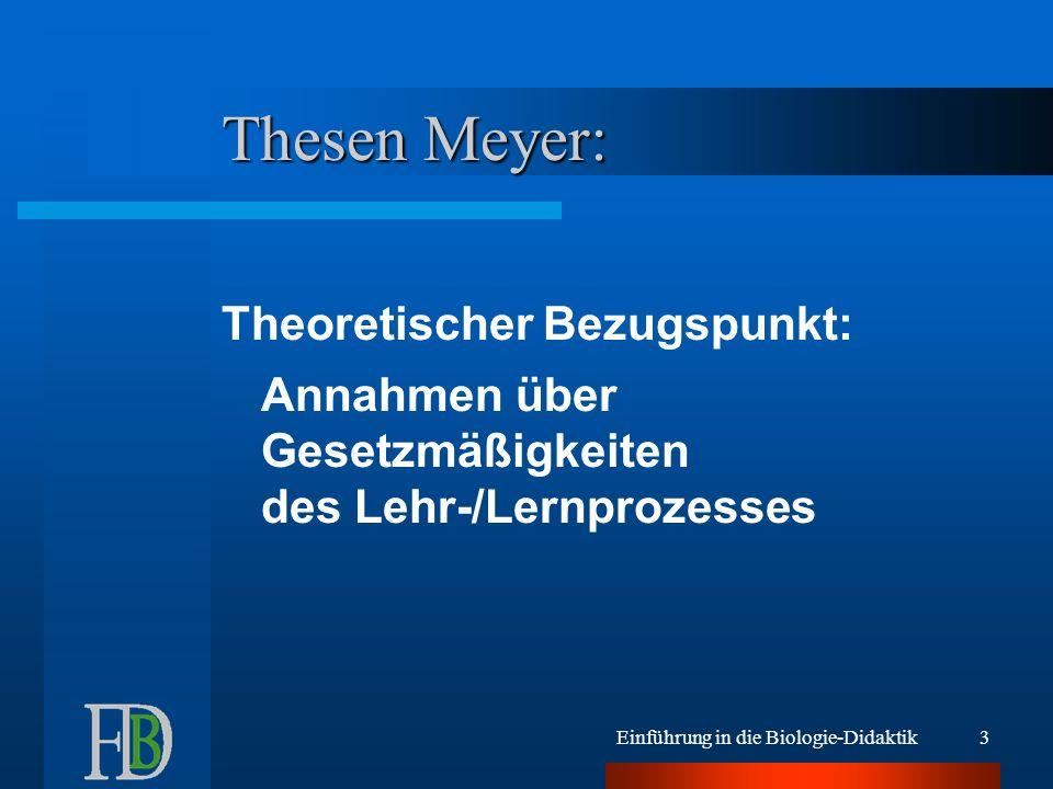 Thesen Meyer: Theoretischer Bezugspunkt: