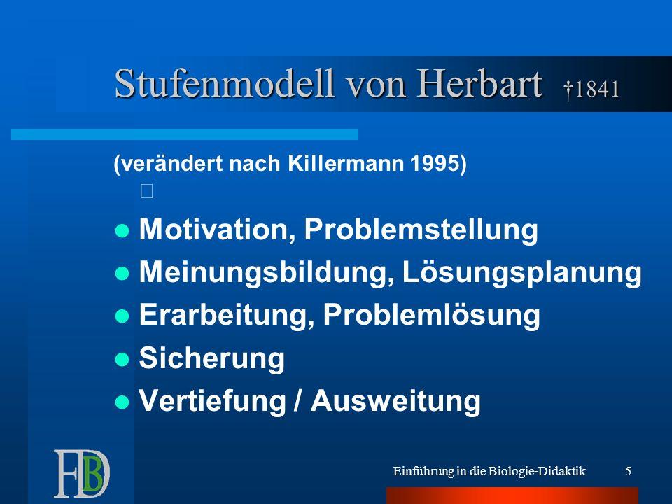 Stufenmodell von Herbart †1841