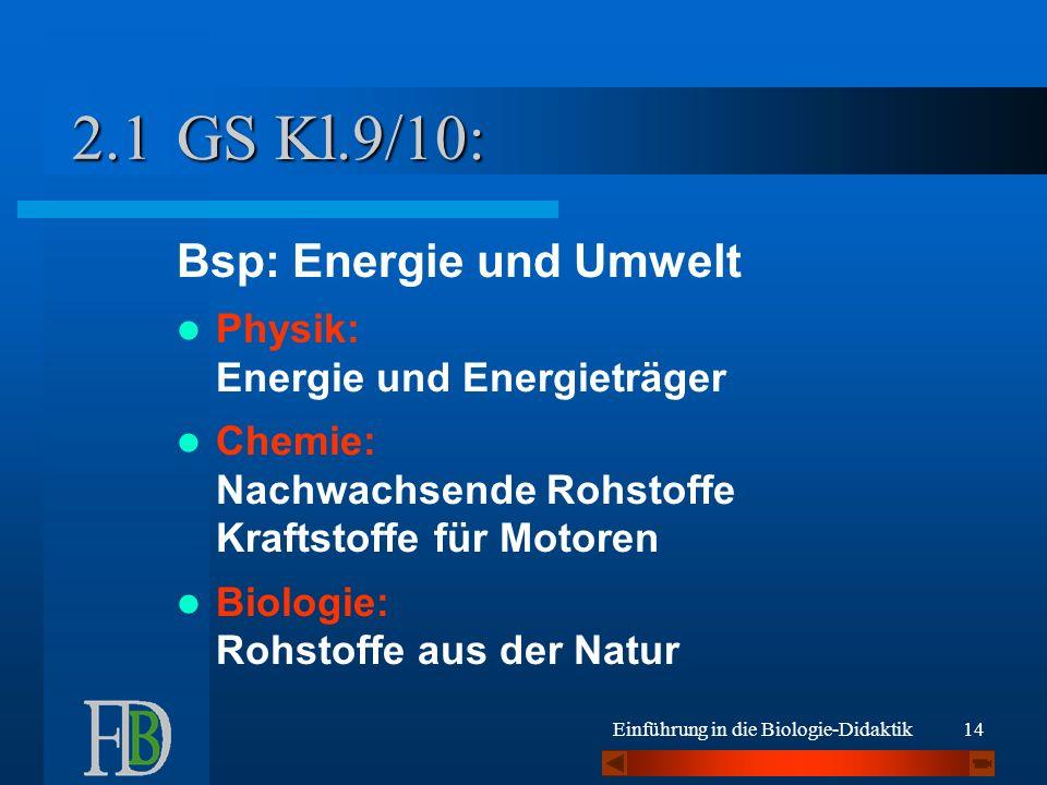 GS Kl.9/10: 2.1 Bsp: Energie und Umwelt