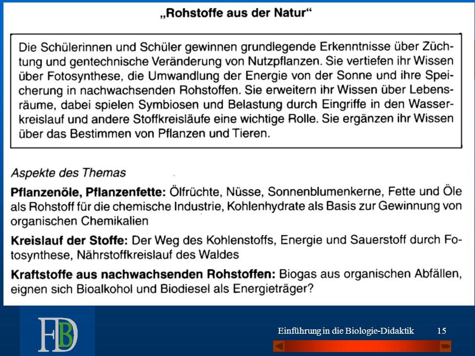 Gesamtschule Bsp Kl.9/10: 2.1 Einführung in die Biologie-Didaktik