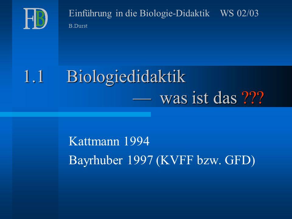 Biologiedidaktik –– was ist das