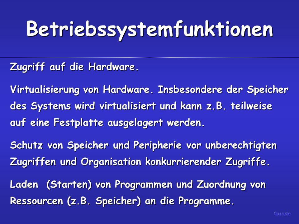 Betriebssystemfunktionen