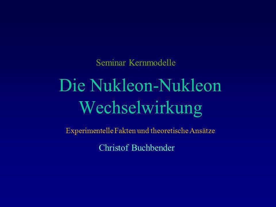 Die Nukleon-Nukleon Wechselwirkung
