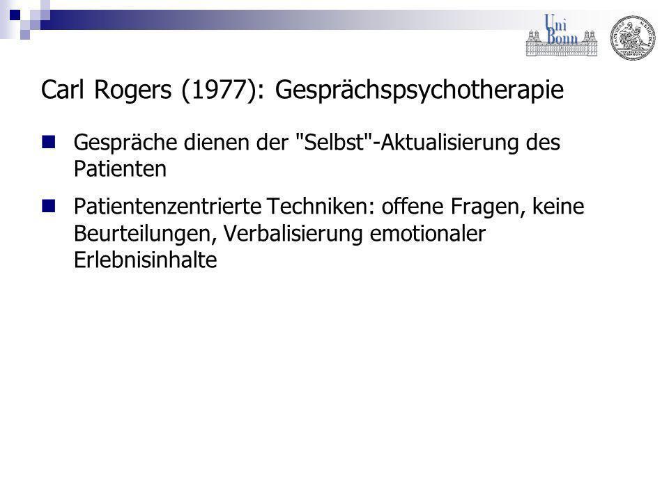 Carl Rogers (1977): Gesprächspsychotherapie