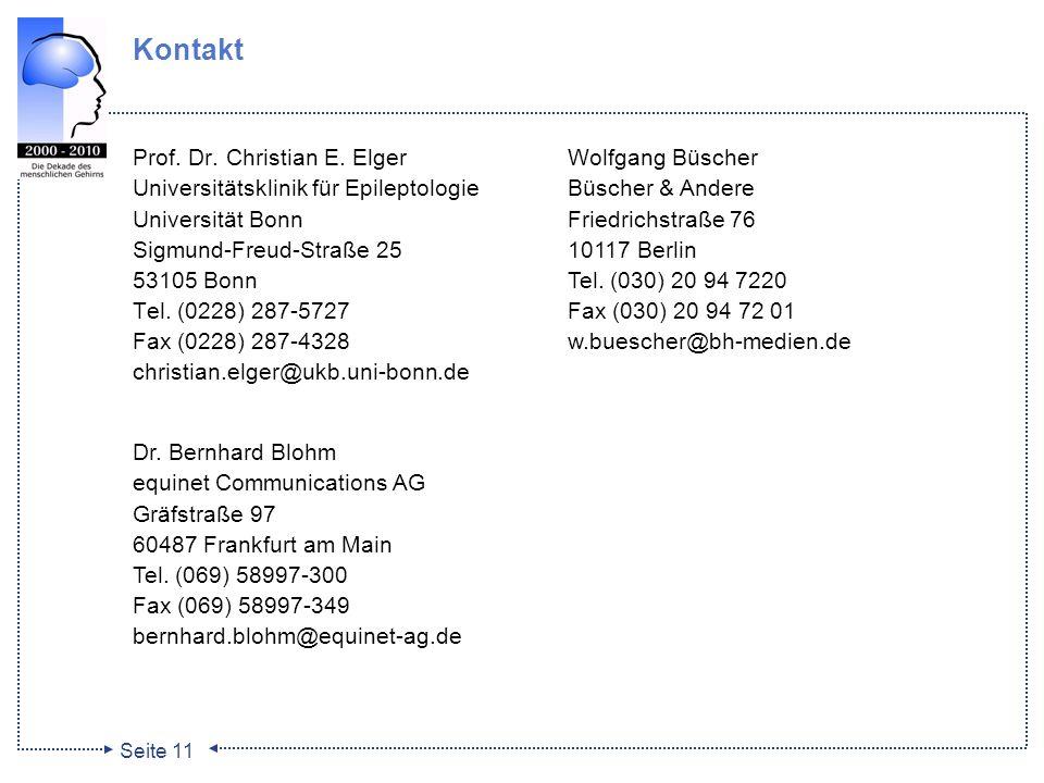 Kontakt Prof. Dr. Christian E. Elger