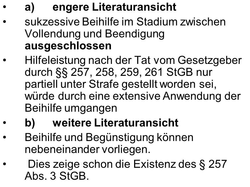 a) engere Literaturansicht