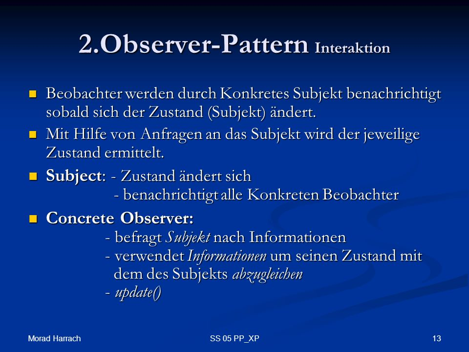 2.Observer-Pattern Interaktion