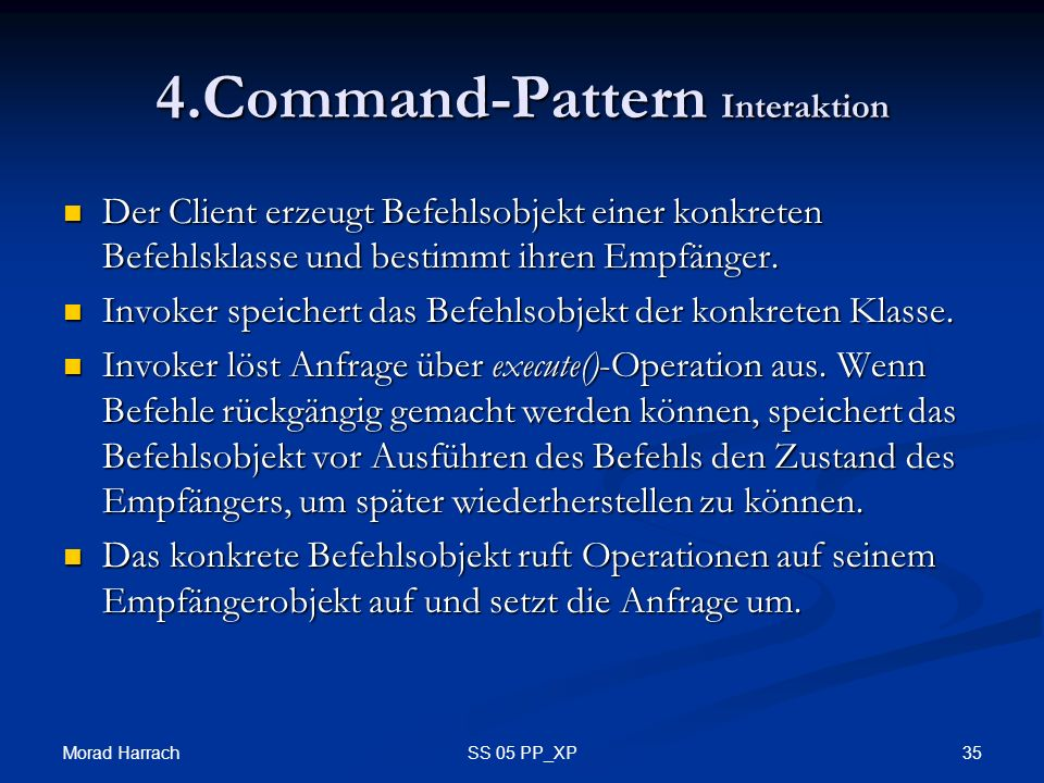 4.Command-Pattern Interaktion