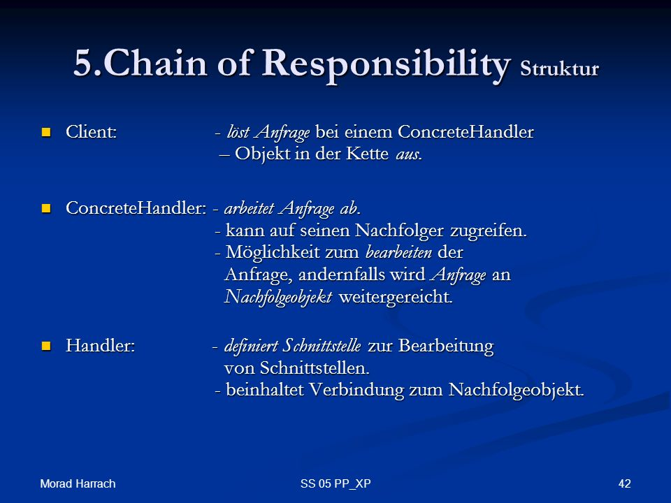 5.Chain of Responsibility Struktur