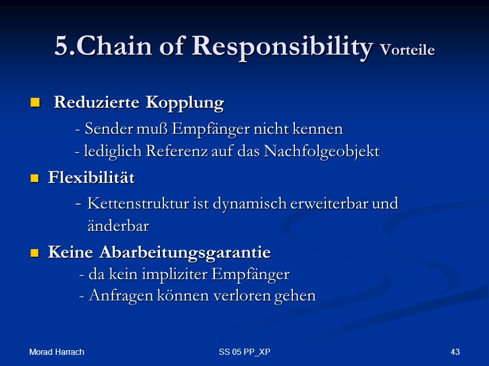 5.Chain of Responsibility Vorteile