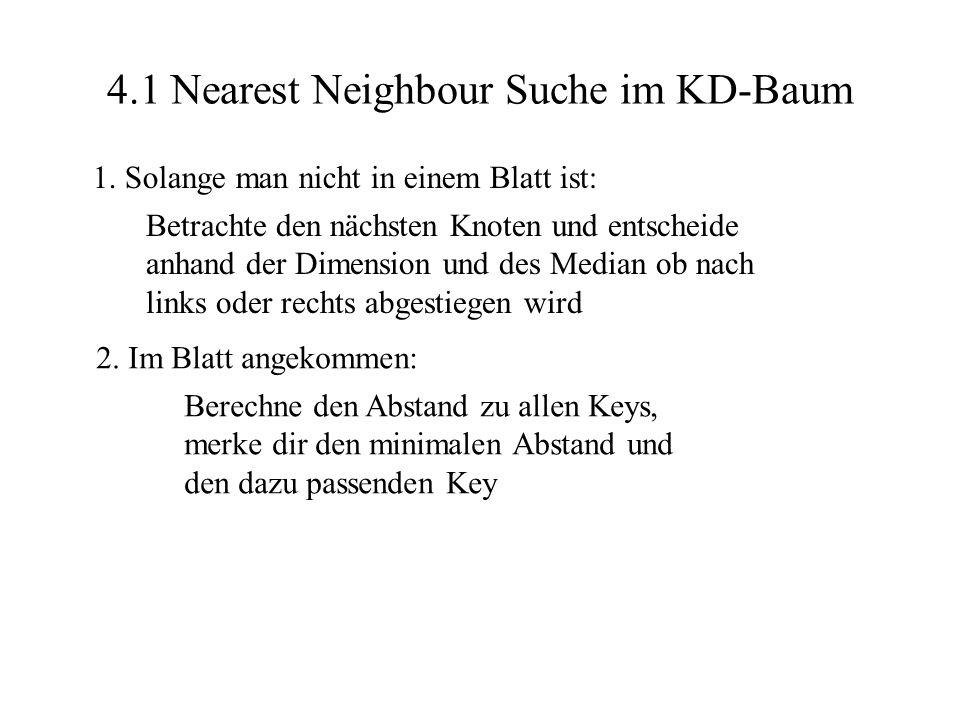4.1 Nearest Neighbour Suche im KD-Baum