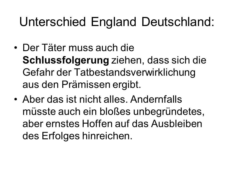 Unterschied England Deutschland:
