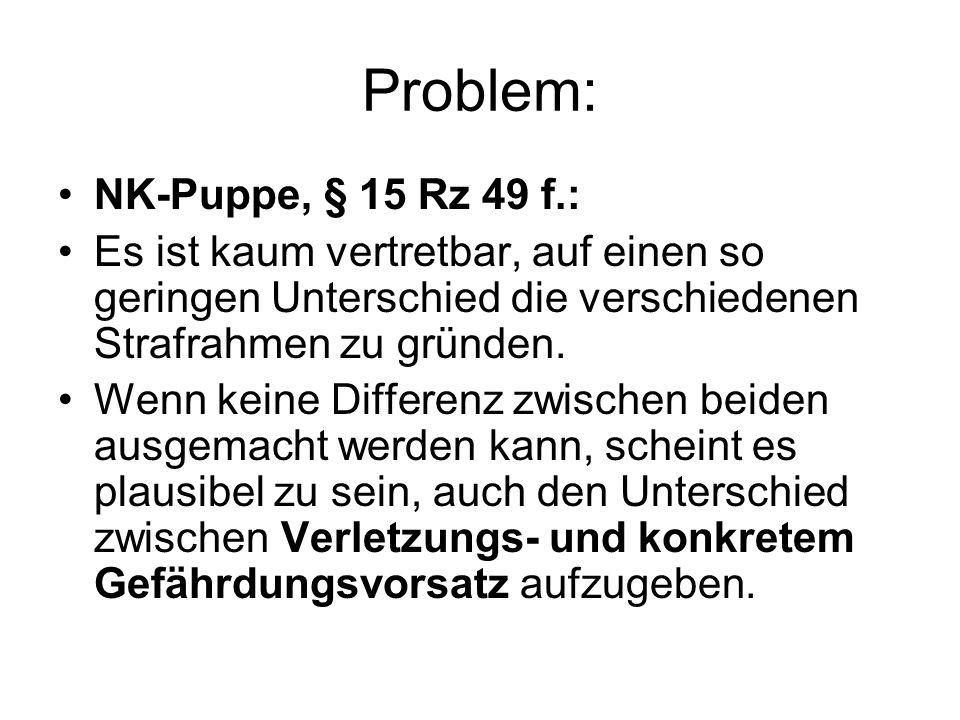 Problem: NK-Puppe, § 15 Rz 49 f.: