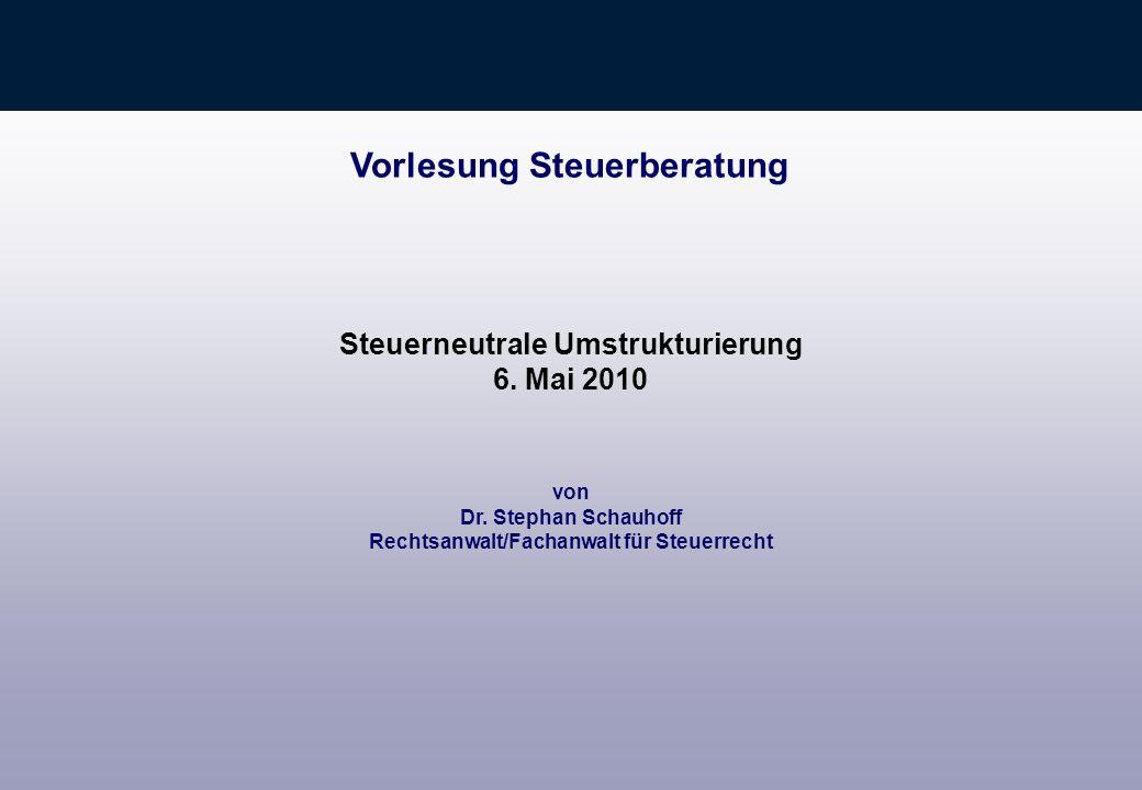 Vorlesung Steuerberatung