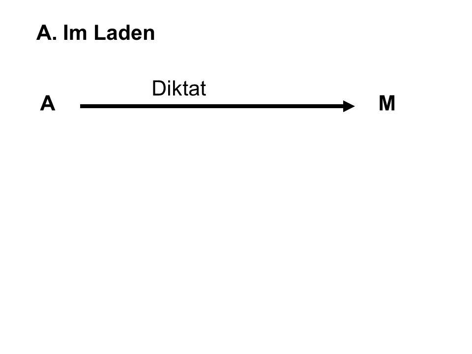 A. Im Laden Diktat A M