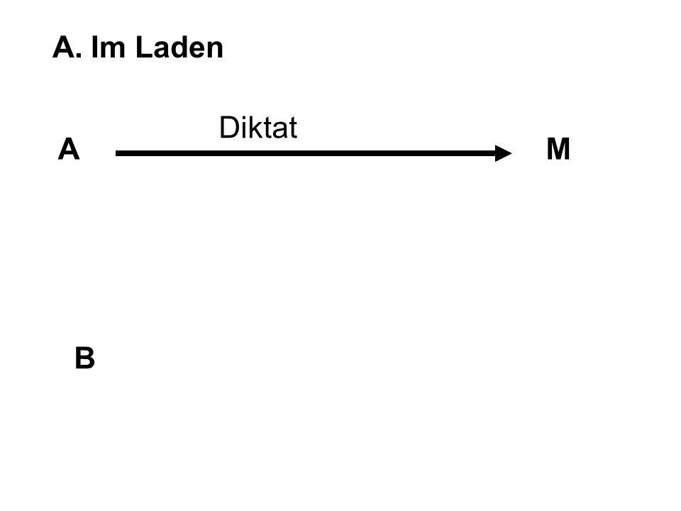 A. Im Laden Diktat A M B