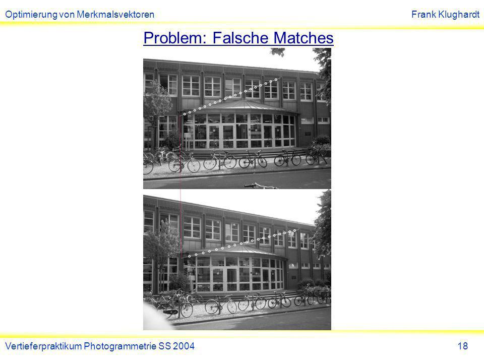 Problem: Falsche Matches