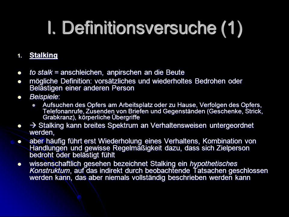 I. Definitionsversuche (1)