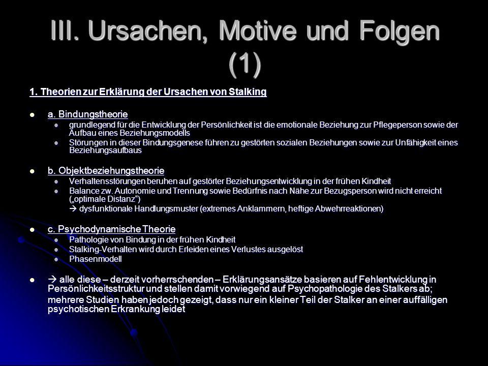 III. Ursachen, Motive und Folgen (1)