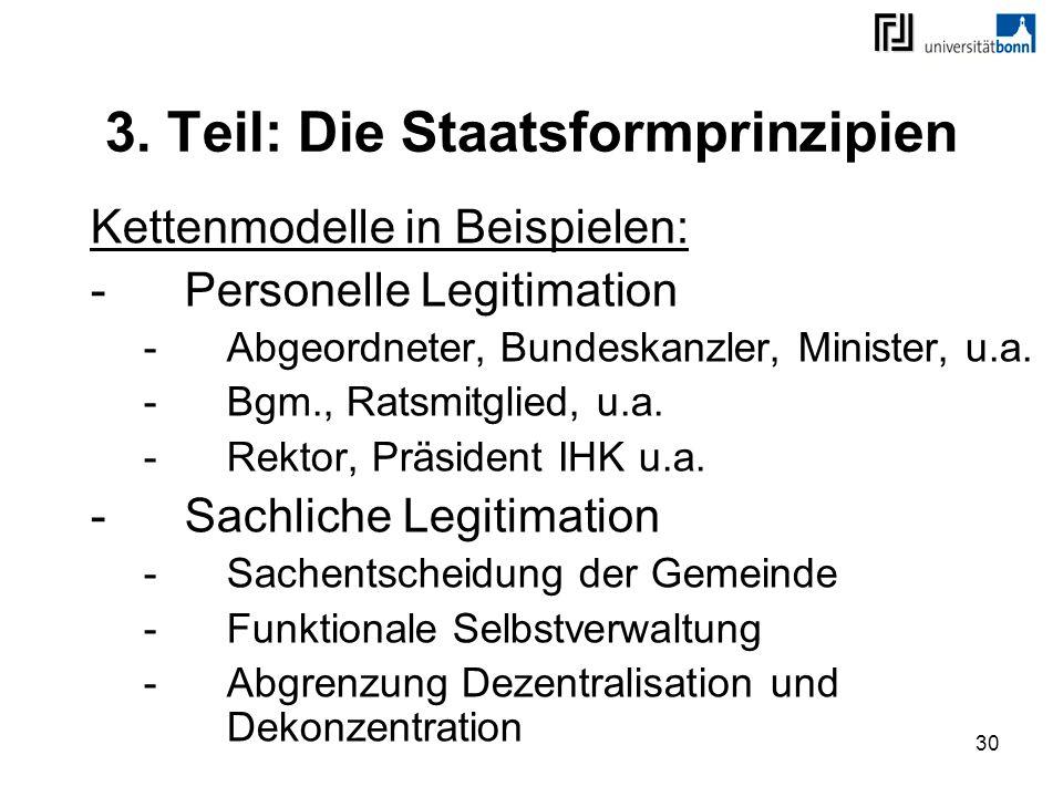 3. Teil: Die Staatsformprinzipien