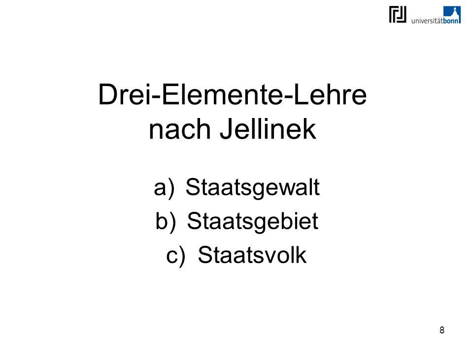Drei-Elemente-Lehre nach Jellinek
