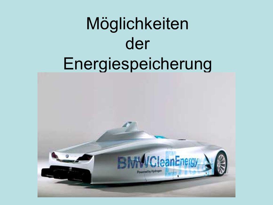 Möglichkeiten der Energiespeicherung