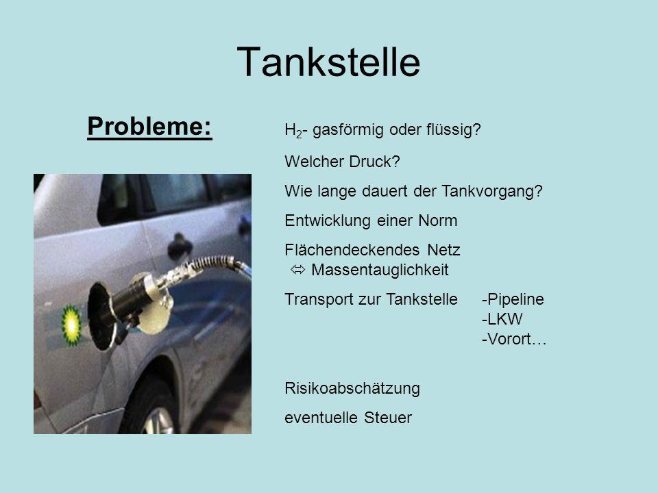 Tankstelle Probleme: H2- gasförmig oder flüssig Welcher Druck