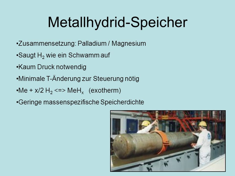 Metallhydrid-Speicher