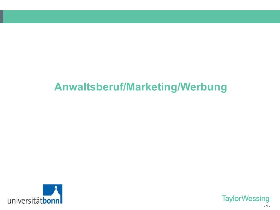 Anwaltsberuf/Marketing/Werbung