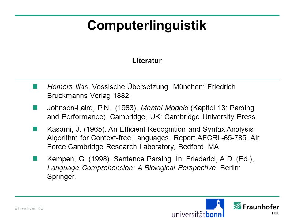 Computerlinguistik Literatur