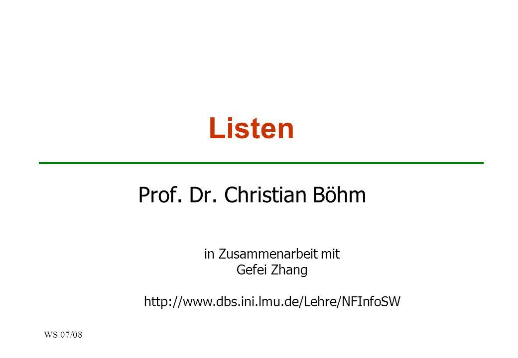 Listen Prof. Dr. Christian Böhm in Zusammenarbeit mit Gefei Zhang