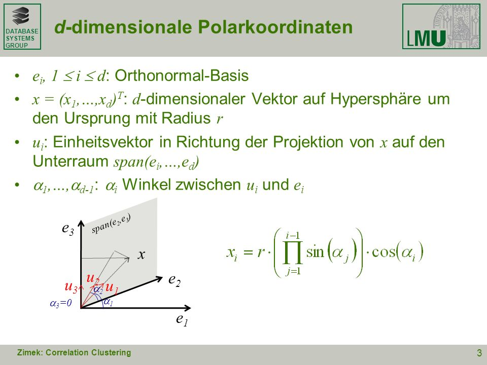d-dimensionale Polarkoordinaten