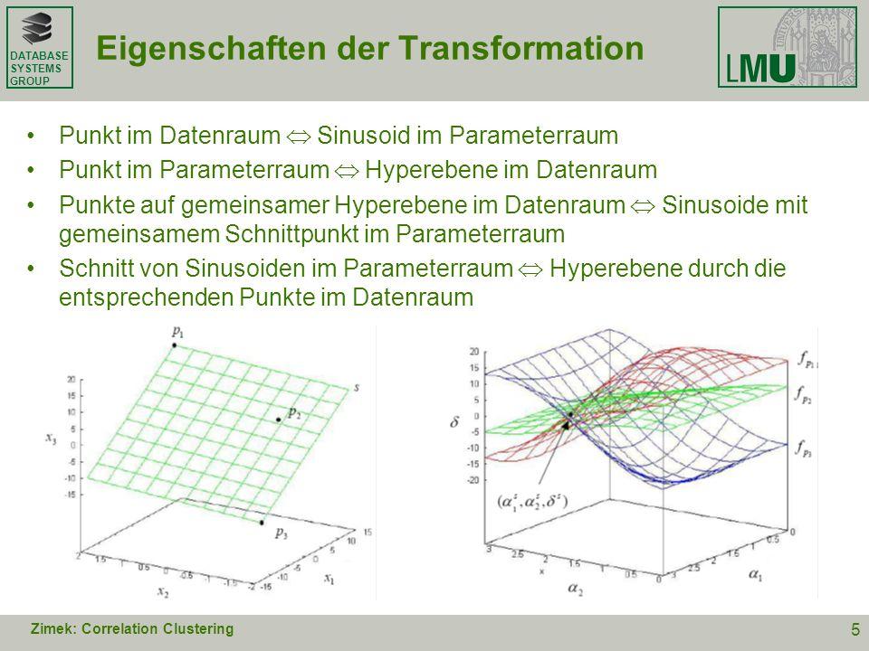Eigenschaften der Transformation