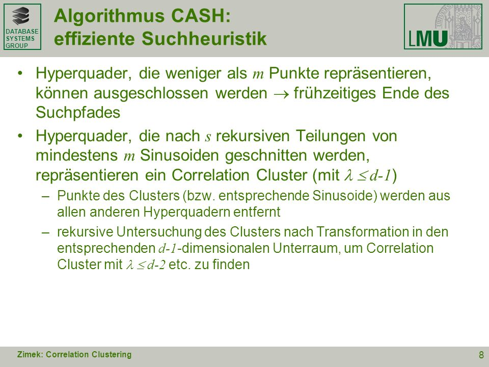 Algorithmus CASH: effiziente Suchheuristik