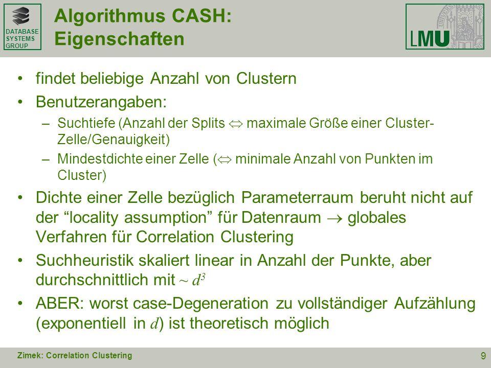 Algorithmus CASH: Eigenschaften
