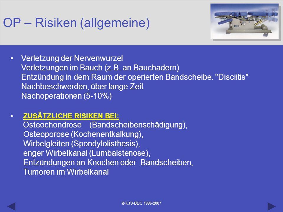 OP – Risiken (allgemeine)
