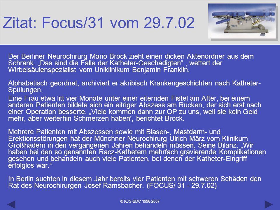 Zitat: Focus/31 vom 29.7.02