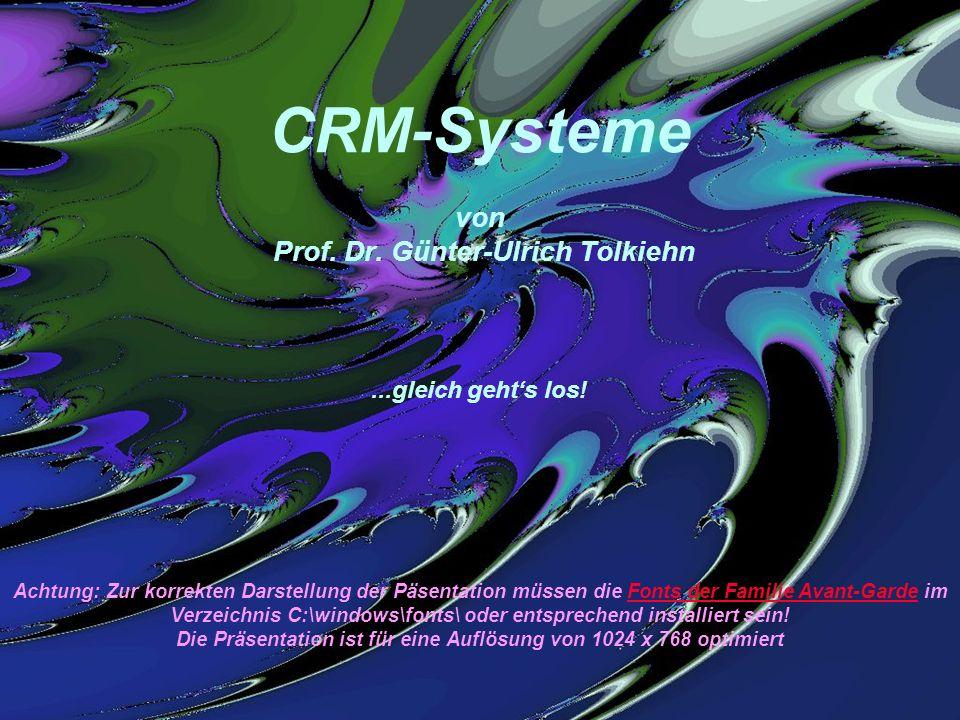 CRM-Systeme von Prof. Dr