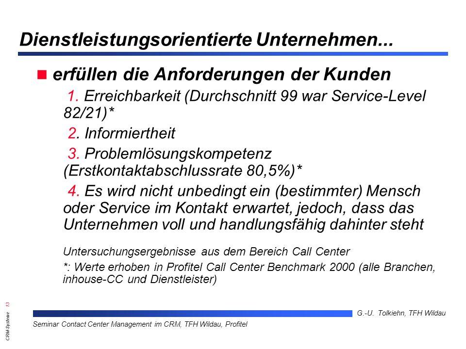 Dienstleistungsorientierte Unternehmen...