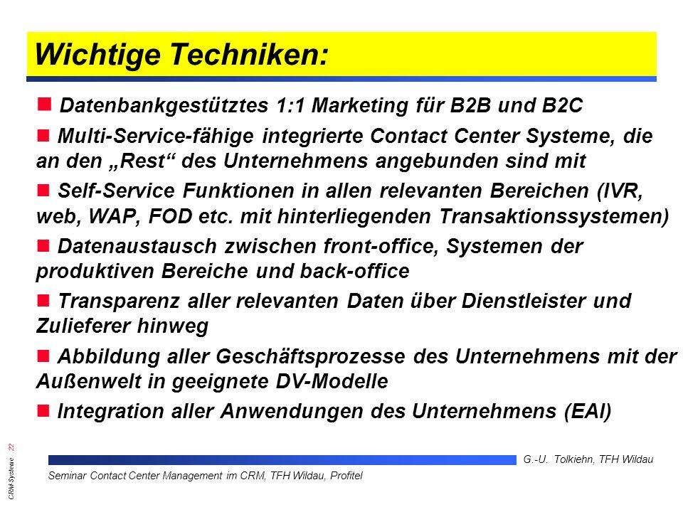 Wichtige Techniken: Datenbankgestütztes 1:1 Marketing für B2B und B2C