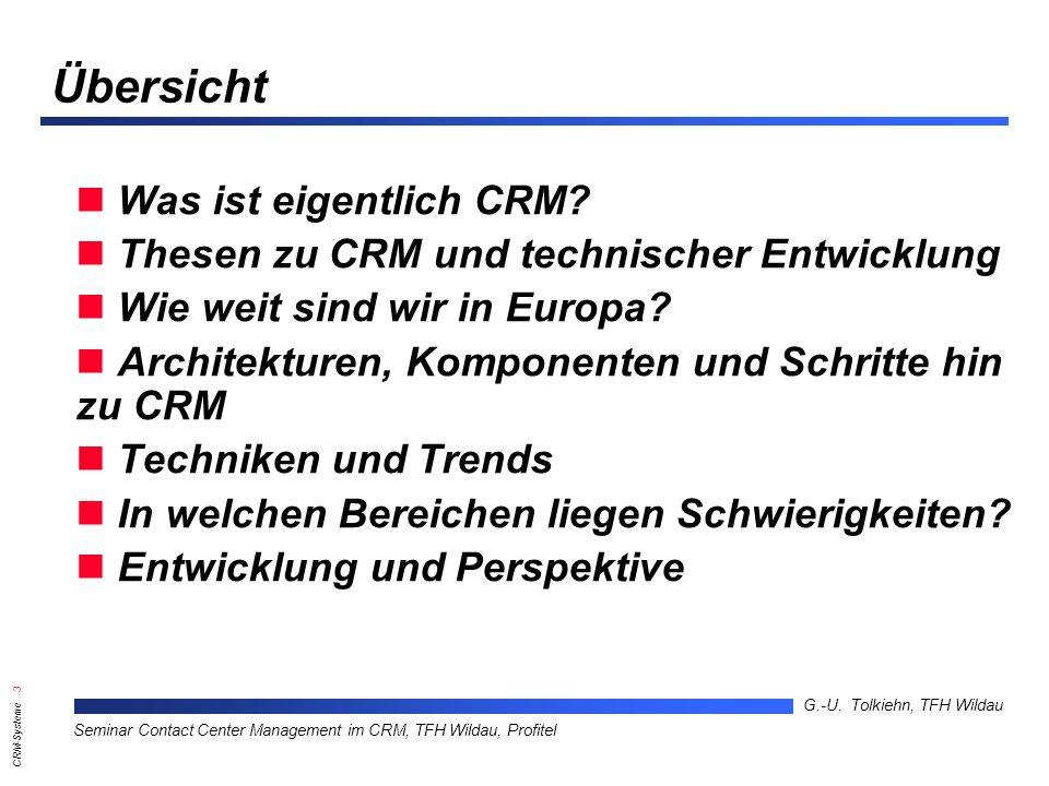 Übersicht Was ist eigentlich CRM