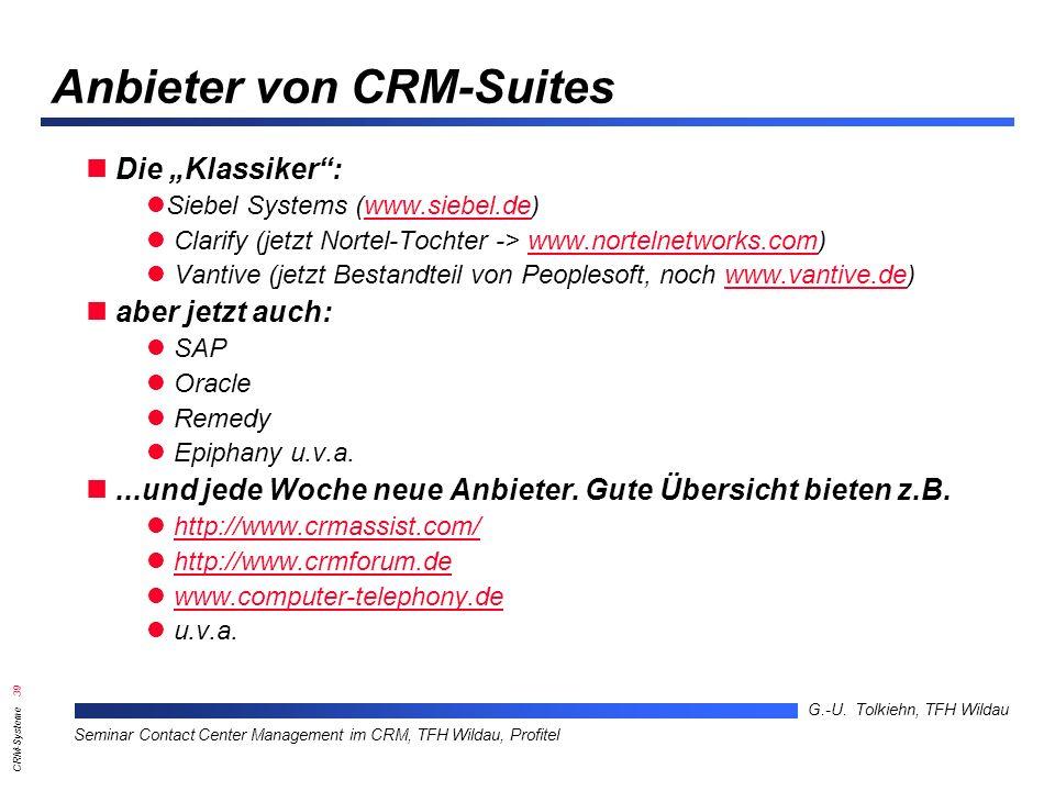 Anbieter von CRM-Suites