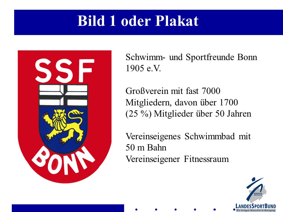 Bild 1 oder Plakat Schwimm- und Sportfreunde Bonn 1905 e.V.